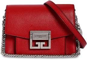 Givenchy Mini Gv3 Grained Leather Shoulder Bag