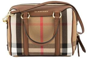 Burberry Tan Leather and House Check Small Alchester Bag - ONE COLOR - STYLE