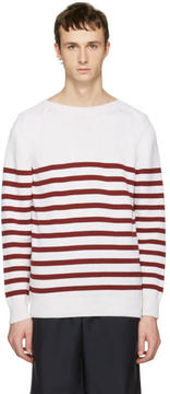 A.P.C. White Striped Lord Pullover