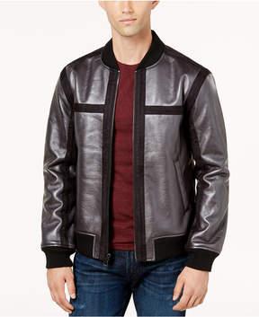 GUESS Men's Fleece-Lined Bonded Metallic Jacket