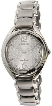 Citizen Women's Eco-Drive FE2070-84A Silver Stainless-Steel Eco-Drive Fashion Watch