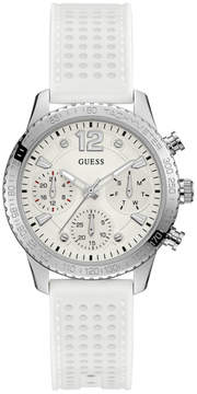 GUESS White and Silver-Tone Watch