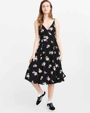 Abercrombie & Fitch Wrap Midi Dress