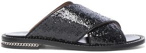 Givenchy Crisscross Glitter Sandal