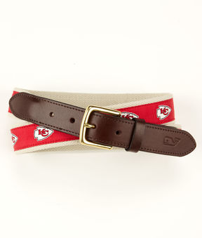 Vineyard Vines Kansas City Chiefs Canvas Club Belt