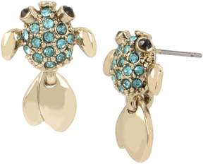 Betsey Johnson CRABBY COUTURE FISH STUD EARRINGS