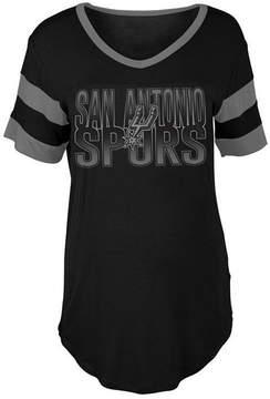 5th & Ocean Women's San Antonio Spurs Hang Time Glitter T-Shirt