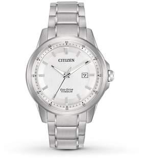 Citizen TI + IP AW1490-50A Silver/Silver Titanium Analog Eco-Drive Men's Watch
