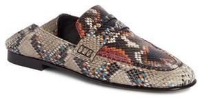 Isabel Marant Women's Fezzy Snakeskin Embossed Convertible Loafer