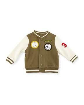 Stella McCartney Parsley Patched Varsity Jacket, Size 12-36 Months