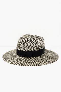 7 For All Mankind Joanna Hat In Black And Cream