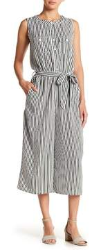 Spense Striped Sleeveless Jumpsuit