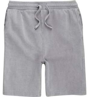 River Island Boys grey washed jersey shorts