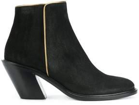 A.F.Vandevorst gold trim ankle boots