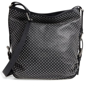 Michael Kors Medium Naomi Grommet Leather Hobo - Black