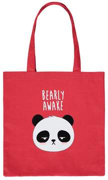 Forever 21 Bearly Awake Graphic Eco Tote Bag