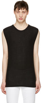 Alexander Wang Black Sleeveless T-Shirt