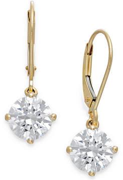 Arabella Swarovski Cubic Zirconia Leverback Earrings in 14k Gold (4-1/2 ct. t.w.)