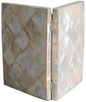 One Kings Lane Vintage Mother-of-Pearl Card Case - Faded Rose Antiques LLC