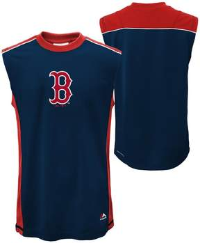 Majestic Boys 4-7 Boston Red Sox Slide Home Synthetic Muscle Tee