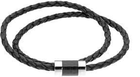 Lynx Men's Leather & Carbon Fiber Bracelet