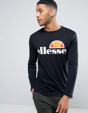Ellesse Long Sleeve T-Shirt with Classic Logo In Black