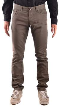 Richmond Men's Brown Cotton Jeans.