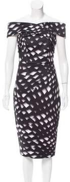 Keepsake Off-The-Shoulder Printed Dress