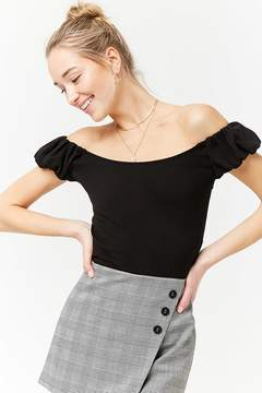 Forever 21 Puff Sleeve Off-the-Shoulder Top