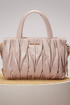 Miu Miu Matelasse leather big tote bag
