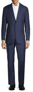 Saks Fifth Avenue BLACK Multistripe Wool Suit