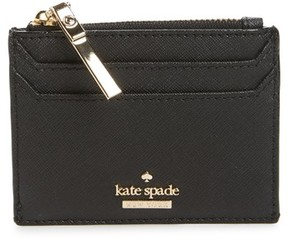 Kate Spade Women's Cameron Street - Lalena Leather Card Case - Black - BLACK - STYLE