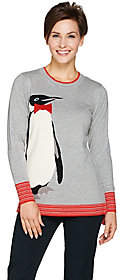 C. Wonder Knit Intarsia Penguin Sweater with Embellishments