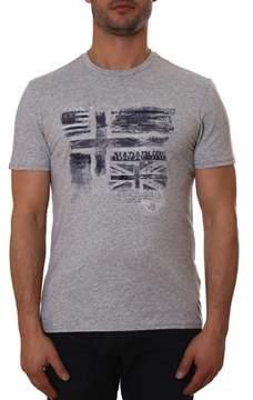 Napapijri Men's Grey Cotton T-shirt.