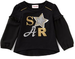 Flapdoodles Little Girls 2T-6X Star Long-Sleeve Tee