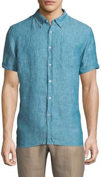Jachs Men's Solid Short Sleeve Sportshirt