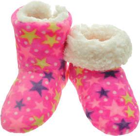 Angelina Pink Star Zigzag Fleece-Lined Slippers - Women