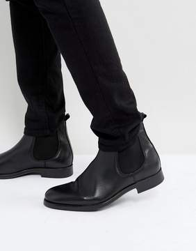 Selected Oliver Leather Chelsea Boots In Black