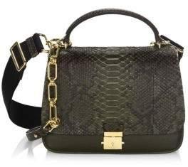 Michael Kors Mia Leather Shoulder Bag - OLIVE - STYLE