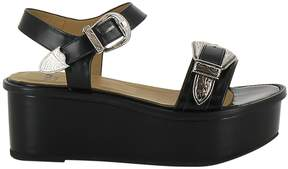 Toga Buckled Wedge Sandals