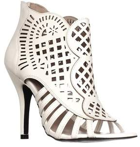 DOLCE by Mojo Moxy Kojo Caged Booties, White.