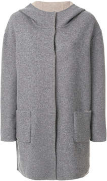 Le Tricot Perugia hooded knit coat