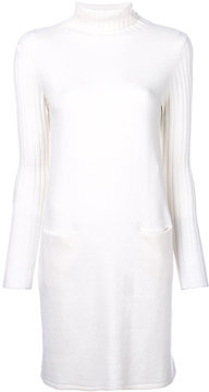 Allude turtleneck ribbed dress