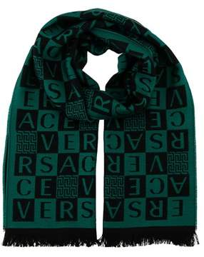 Versace It00629 Verde Emerald Green 100% Wool Mens Scarf.