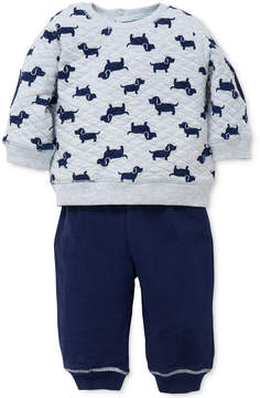 Little Me 2-Pc. Puppy-Print Sweatshirt & Pants Set, Baby Boys (0-24 months)