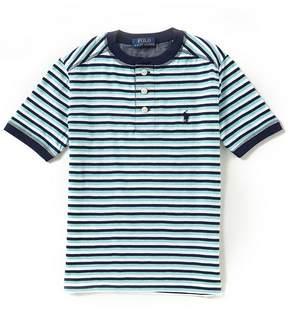 Ralph Lauren Big Boys 8-20 Short-Sleeve Striped Henley Tee