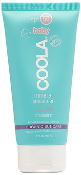 Coola Mineral Baby SPF 50 Unscented Lotion.