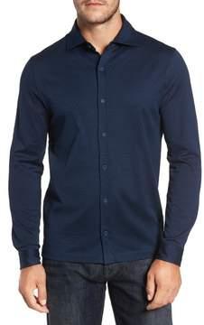 Bugatchi Men's Classic Fit Geo Pattern Knit Sport Shirt