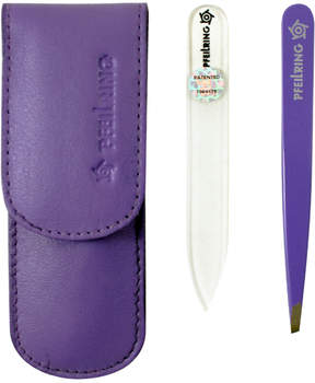 Nappa Leather Manicure Set - Lilac by Pfeilring (2pcs Manicure Set)