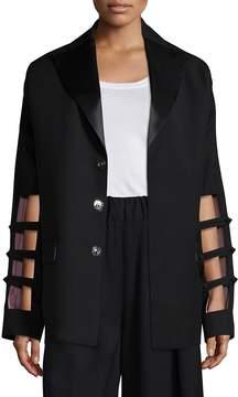 Each X Other Women's Cutout Sleeve Wool Blazer